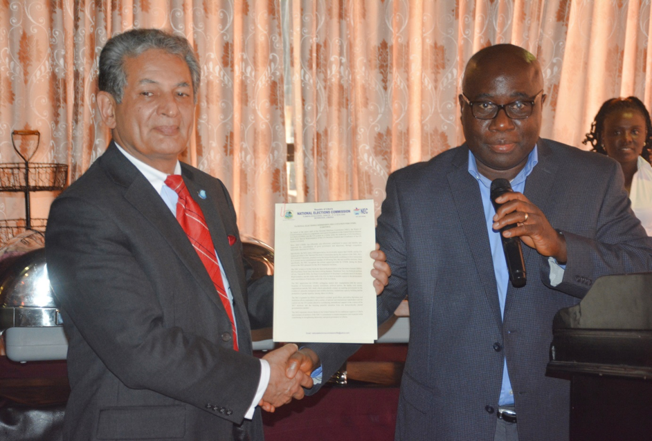 NEC shows appreciations and bids farewell to departing UNMIL SRSG